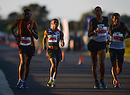 CAPE TOWN, SOUTH AFRICA - OCTOBER 08: Mtunzi Mnisi of AGN (506) in the senior mens 50km during the ASA 50km and Interprovincial Race Walking Championships at Youngsfield Military base on October 08, 2016 in Cape Town, South Africa. (Photo by Roger Sedres/Gallo Images)