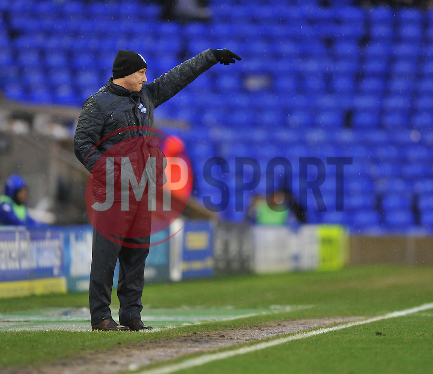 Birmingham City Manager, Lee Clark  - Photo mandatory by-line: Alex James/JMP - Tel: Mobile: 07966 386802 25/01/2014 - SPORT - FOOTBALL - St Andrew's - Birmingham - Birmingham City v Swansea City - FA Cup - Forth Round