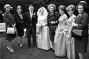 "19/09/1963<br /> 09/19/1963<br /> 19 September 1963<br /> Wedding of Colm A. O'Rahilly, A.C.A., ""Collin"", Newtownpark Avenue, Blackrock, Dublin and Miss Mary Corcoran, 29 Prussia Street, North Circular Road, Dublin at the Church of the Holy Family, Aughrim Street, Stoneybatter, Dublin and reception at the Spa Hotel, Lucan, Co. Dublin."