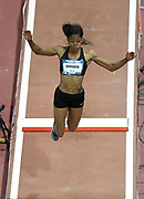 Mar 4, 2017; Albuquerque, NM, USA: Erica Bougard wins the women's long jump at 21-1 1/2 (6.44m) during the USA Indoor Championships at Albuquerque Convention Center.
