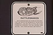 Rattlesnake warning sign,Andrew Molera State Park, Big Sur, California