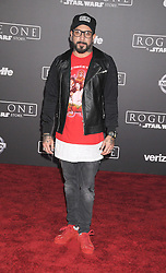 December 10, 2016 - Los Angeles, California, United States - December 10th 2016 - Los Angeles California USA - Singer AJ MCLEAN at the World Premiere for ''Rogue One Star Wars'' held at the Pantages Theater, Hollywood, Los Angeles  CA (Credit Image: © Paul Fenton via ZUMA Wire)