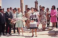 First Lady Pat Nixon takes a tour with Jihan Sadat in Egypt in July 1974..Photograph by Dennis Brack BBBs 20