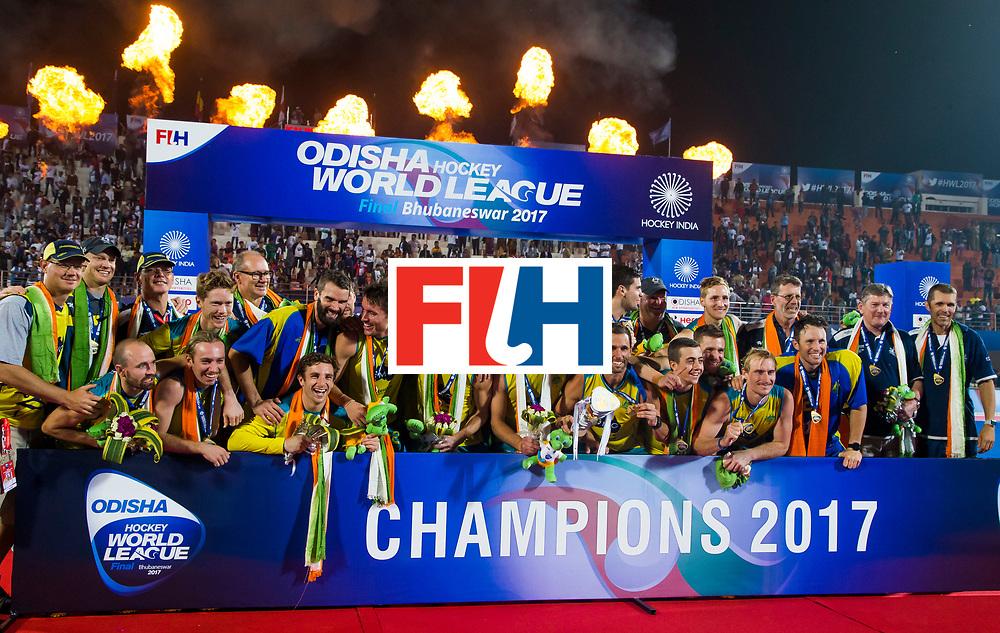 BHUBANESWAR - Australia wins HWL .  Hockey World League finals , Final Australia-Argentina (2-1) . Australia wint de finale. COPYRIGHT KOEN SUYK