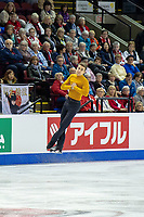 KELOWNA, BC - OCTOBER 25: Italian figure skater Matteo Rizzo competes in the men's short program at Skate Canada International held at Prospera Place on October 25, 2019 in Kelowna, Canada. (Photo by Marissa Baecker/Shoot the Breeze)