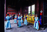 Changing of the Royal Guard ceremony, Toksugung Palace, Seoul, South Korea