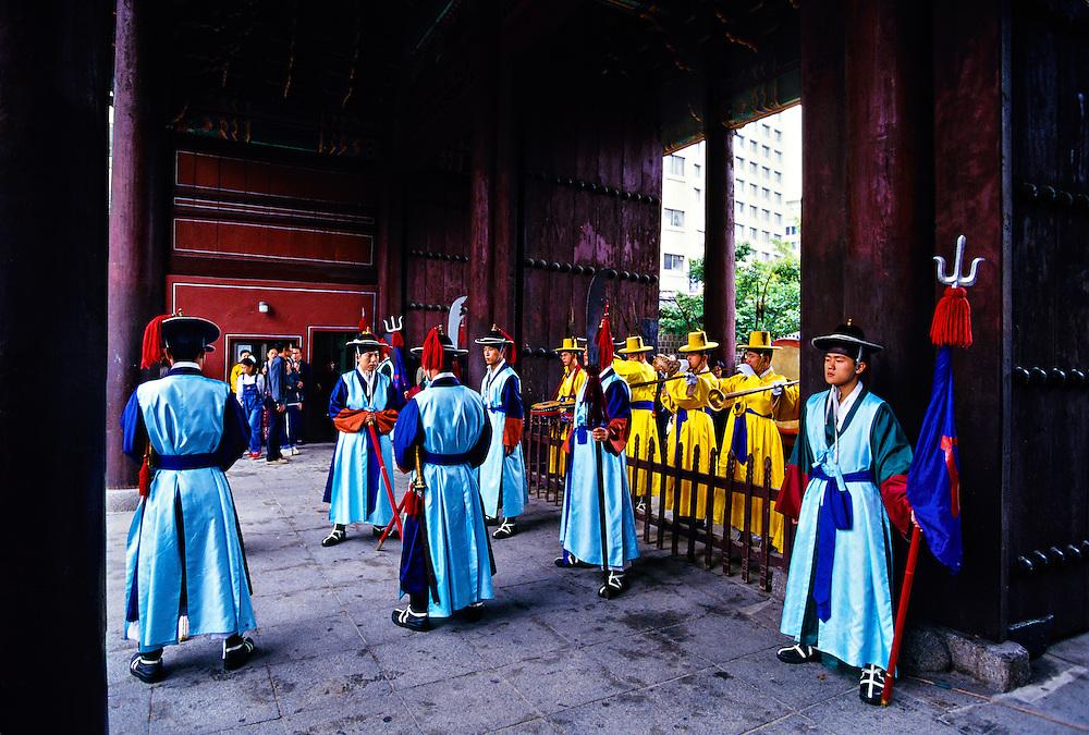 Changing of the Royal Guard ceremony, Toksugung Palace, Seoul, South Korea