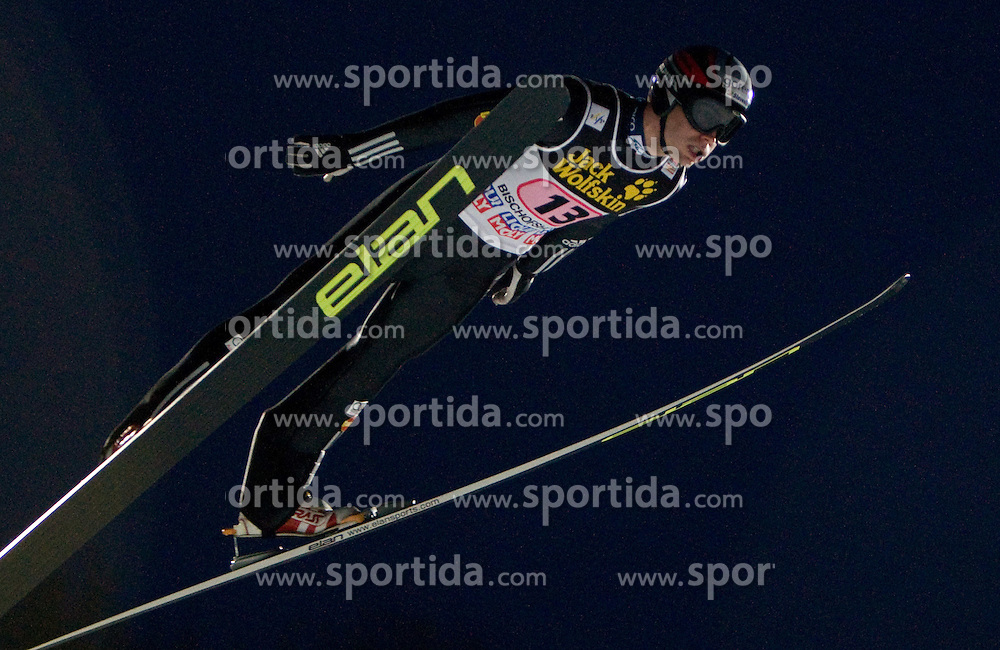 Jernej Damjan of Slovenia competes during First round of the FIS Ski Jumping World Cup event of the 58th Four Hills ski jumping tournament, on January 6, 2010 in Bischofshofen, Austria. (Photo by Vid Ponikvar / Sportida)