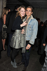 EMMA WIGAN and OLLIE PROUDLOCK at a party to celebrate the launch of the new Vertu Constellation phone - the luxury phonemakers first touchscreen handset, held at the Farmiloe Building, St.John Street, Clarkenwell, London on 24th November 2011.