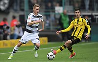 v.l. Nico Elvedi, Christian Pulisic (Dortmund)<br /> Moenchengladbach, 22.04.2017, Fussball, Bundesliga, Borussia Moenchengladbach - Borussia Dortmund 2:3<br /> <br /> Norway only