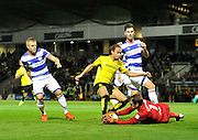 Burton's Marcus Harness (22) during the EFL Sky Bet Championship match between Burton Albion and Queens Park Rangers at the Pirelli Stadium, Burton upon Trent, England on 27 September 2016. Photo by Richard Holmes.