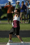 London, Ontario ---07/06/08--- Harry Yeung of Unionville in Markham competes in the Shot put at the 2008 OFSAA Track and Field meet in Hamilton, Ontario..Sean Burges