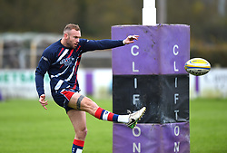 Ryan Edwards of Bristol United during warm-up - Mandatory by-line: Paul Knight/JMP - 18/11/2017 - RUGBY - Clifton RFC - Bristol, England - Bristol United v Gloucester United - Aviva A League