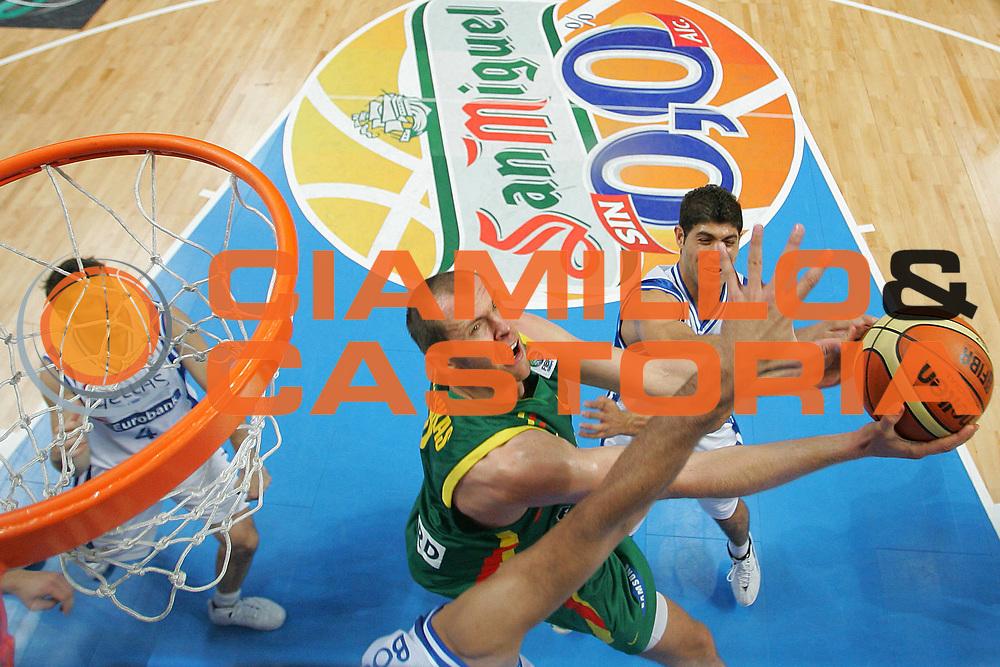 DESCRIZIONE : Madrid Spagna Spain Eurobasket Men 2007 Final 3rd 4th Place Grecia Lituania Greece Lithuania <br /> GIOCATORE : Ramunas Siskauskas <br /> SQUADRA : Lituania Lithuania <br /> EVENTO : Eurobasket Men 2007 Campionati Europei Uomini 2007 <br /> GARA : Grecia Lituania Greece Lithuania <br /> DATA : 16/09/2007 <br /> CATEGORIA : Special San Miguel <br /> SPORT : Pallacanestro <br /> AUTORE : Ciamillo&amp;Castoria/S.Silvestri <br /> Galleria : Eurobasket Men 2007 <br /> Fotonotizia : Madrid Spagna Spain Eurobasket Men 2007 Final 3rd 4th Place Grecia Lituania Greece Lithuania <br /> Predefinita :