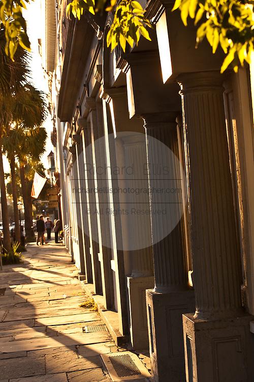 Shops along Broad Street in Charleston, SC.