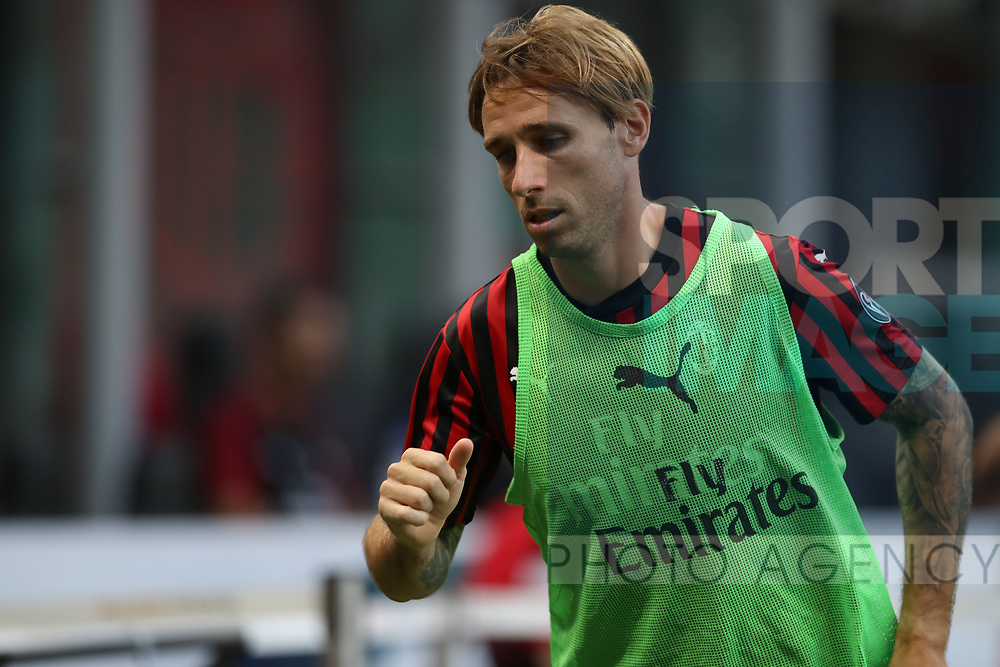 AC Milan's Argentinian midfielder Lucas Biglia during the Serie A match at Giuseppe Meazza, Milan. Picture date: 28th June 2020. Picture credit should read: Jonathan Moscrop/Sportimage