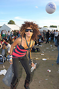 Girl in trendy clothes pouting, Metro Weekender, Get Loaded In The Park, London 2006