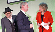 Grassroots Out Public Rally Campaign event at Queen Elizabeth Conference Centre, London, Great Britain <br /> 19th February 2016 <br /> <br /> George Galloway<br /> Nigel Farage <br /> Kate Hoey <br /> <br /> <br /> Photograph by Elliott Franks <br /> Image licensed to Elliott Franks Photography Services