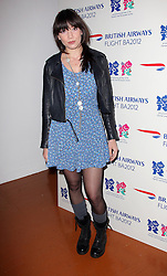Daisy Lowe at the launch of the Flight BA2012 pop up restaurant in London, Tuesday 3rd April 2012.  Photo by: Stephen Lock / i-Images