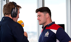 Marc Jones of Bristol Rugby speaks to SamFM at the Aviva Premiership fixture launch - Mandatory by-line: Robbie Stephenson/JMP - 07/07/2016 - RUGBY - BT Tower - London, United Kingdom  - Aviva Premiership Fixture Launch