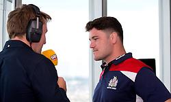 Marc Jones of Bristol Rugby speaks to SamFM at the Aviva Premiership fixture launch - Mandatory by-line: Robbie Stephenson/JMP - 07/07/2016 - RUGBY - BT Tower - London, United Kingdom  - Aviva Premiership Fixture Launch