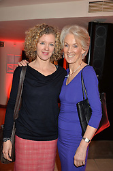 Left to right, ANTONIA POTTER-PRENTICE and her mother JOANNA TROLLOPE at the Costa Book Awards 2013 held at Quaglino's, 16 Bury Street, London on 28th January 2014.