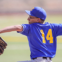 040315       Cable Hoover<br /> <br /> Zuni Thunderbird Quion Quam (14) pitches to the NACA Eagles Friday at Ford Canyon Park.
