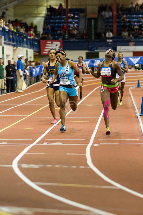 NSAF 2014 New Balance Nationals Indoor, girls 4x200 relay, New Rochelle wins