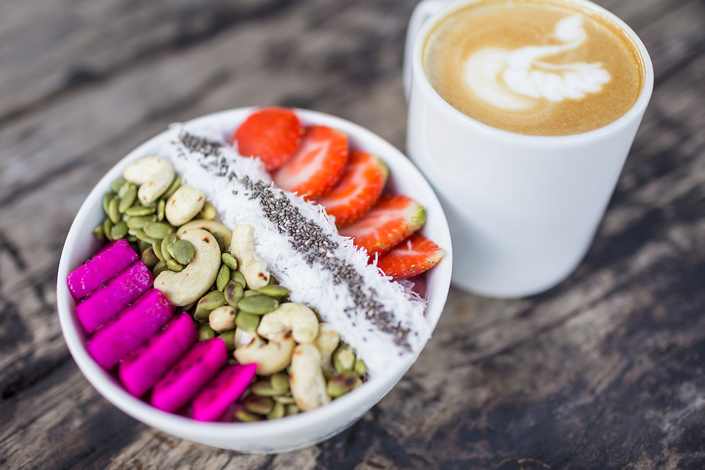 Hipstar Acai Bowl and Flat White.