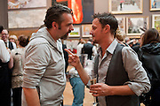 KEITH TYSON; JONATHAN YEO, Royal Academy of Arts Summer Exhibition Preview Party 2011. Royal Academy. Piccadilly. London. 2 June <br /> <br />  , -DO NOT ARCHIVE-© Copyright Photograph by Dafydd Jones. 248 Clapham Rd. London SW9 0PZ. Tel 0207 820 0771. www.dafjones.com.