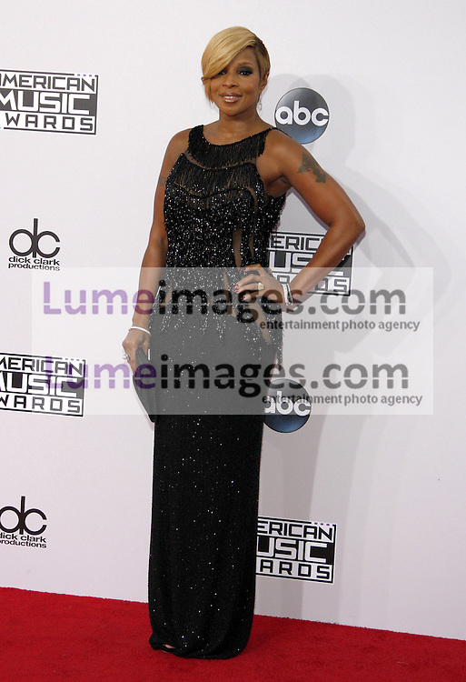Mary J. Blige at the 2014 American Music Awards held at the Nokia Theatre L.A. Live in Los Angeles on November 23, 2014 in Los Angeles, California. Credit: Lumeimages.com