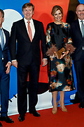 Koning Willem-Alexander en koningin Maxima openen het evenement Leeuwarden-Fryslan 2018, Culturele Hoofdstad van Europa (LF2018)<br /> <br /> King Willem-Alexander and Queen Maxima open the event Leeuwarden-Fryslan 2018, Cultural Capital of Europe (LF2018)<br /> <br /> Op de foto / On the photo:  Koning Willem-Alexander en koningin Maxima / King Willem-Alexander and Queen Maxima