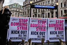 12 Dec 2015 - National march in London says 'stop the bombing of Syria'.