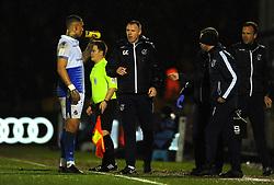 Bristol Rovers manager Graham Coughlan gives orders to Jonson Clarke-Harris of Bristol Rovers - Mandatory by-line: Nizaam Jones/JMP - 05/03/2019 - FOOTBALL - Memorial Stadium - Bristol, England - Bristol Rovers v Sunderland - Checkatrade Trophy