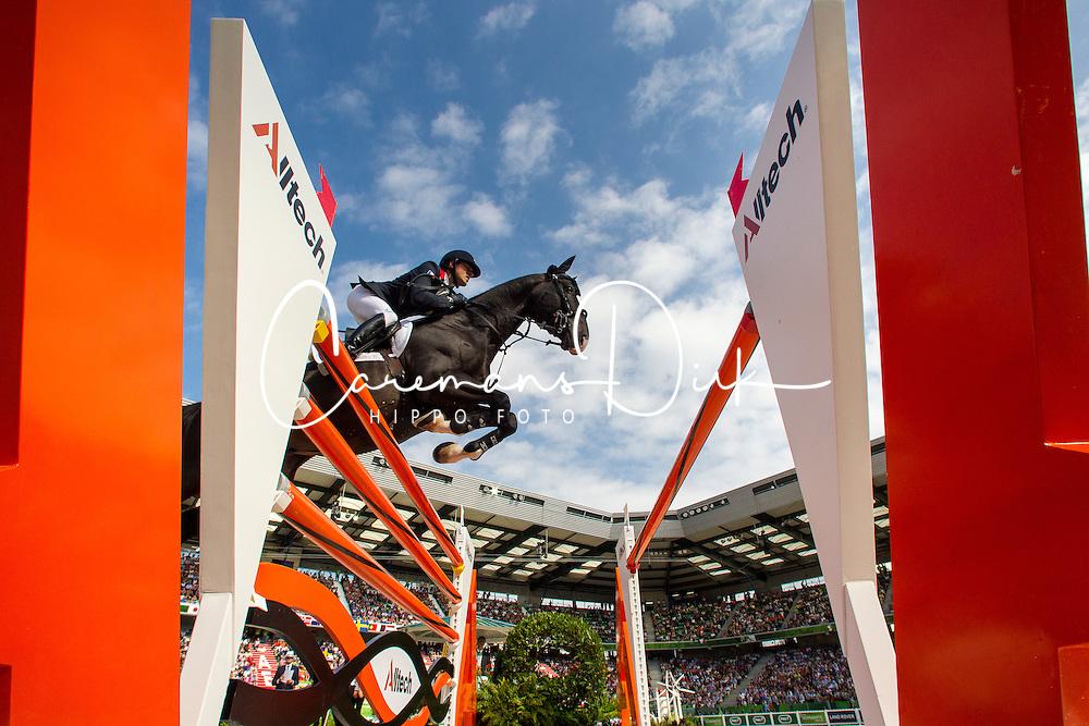 Simon Delestre, (FRA), Qlassic Bois Margot - World Champions, - Second Round Team Competition - Alltech FEI World Equestrian Games™ 2014 - Normandy, France.<br /> © Hippo Foto Team - Leanjo De Koster<br /> 25/06/14