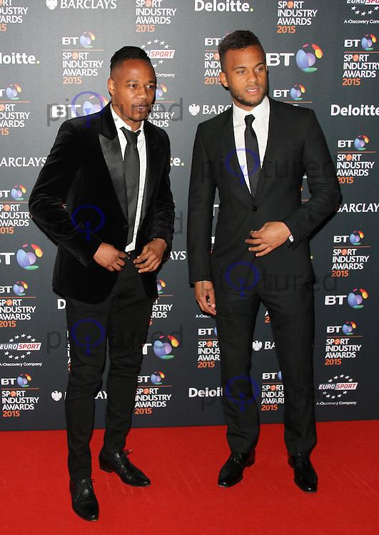 Nathaniel Clyne & Ryan Bertrand, BT Sport Industry Awards 2015, Battersea Evolution, London UK, 30 April 2015, Photo By Brett D. Cove