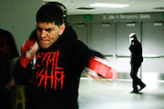 Nick Diaz warms up backstage