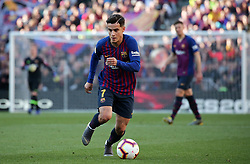 March 30, 2019 - Barcelona, Catalonia, Spain - Philippe Coutinho during the match between FC Barcelona and RCD Espanyol, corresponding to the week 29 of the Liga Santander, played at the Camp Nou Stadium, on 30th March 2019, in Barcelona, Spain. (Credit Image: © Joan Valls/NurPhoto via ZUMA Press)
