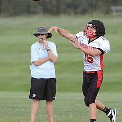 Staff photos by Tom Kelly IV<br /> QB Danny Fisher (15) during Penncrest football practice on Tuesday August 26, 2014.