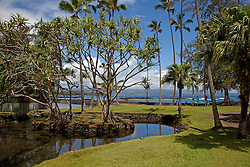 Hilo, Hawaii:  Richardson Ocean Park, Five miles east of town via Kalaniana'ole Ave, offers good snorkeling, with lovely palm trees and resident green turtles to add to its charms.Several calm ponds beckon childen to wade and fish, while kava sets off most of the beach abd surf.