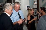 MICHAEL DOUGLAS; PAT RILEY,  Dom PŽrignon with Alex Dellal, Stavros Niarchos, and Vito Schnabel celebrate Dom PŽrignon Luminous. W Hotel Miami Beach. Opening of Miami Art Basel 2011, Miami Beach. 1 December 2011. .<br /> MICHAEL DOUGLAS; PAT RILEY,  Dom Pérignon with Alex Dellal, Stavros Niarchos, and Vito Schnabel celebrate Dom Pérignon Luminous. W Hotel Miami Beach. Opening of Miami Art Basel 2011, Miami Beach. 1 December 2011. .