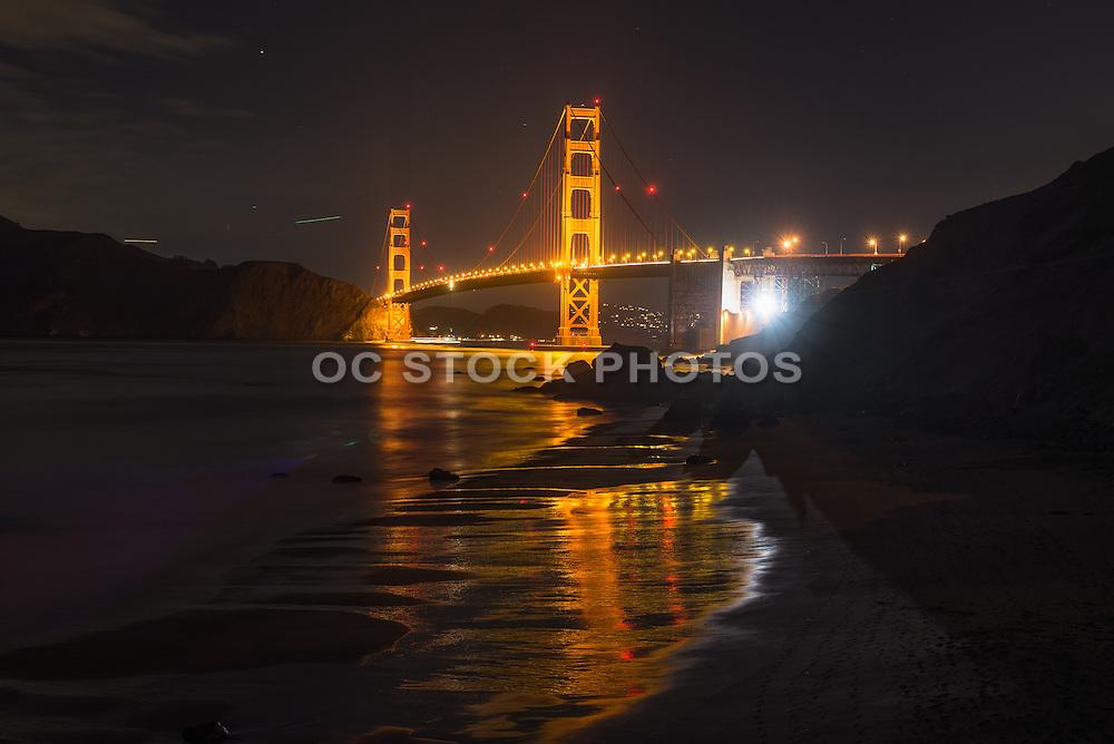 Golden Gate Bridge at Marshall's Beach San Francisco California