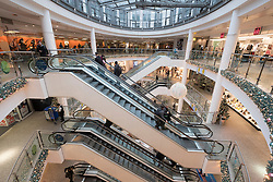 Interior of Ring Centre shopping mall in Friedrichshain district of Berlin Germany