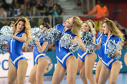 Cheerleaders during handball match between National teams of Slovenia and Spain on Day 6 in Main Round of Men's EHF EURO 2018, on January 23, 2018 in Arena Varazdin, Varazdin, Croatia. Photo by Mario Horvat / Sportida