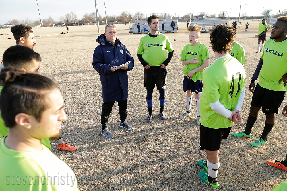 January 26, 2018: OKC Energy FC holds an open combine at Edmond Soccer Club in Edmond, Oklahoma.