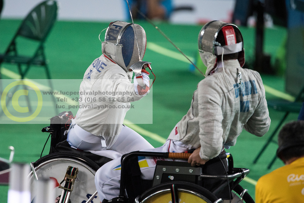 Ludovic Lemoine, FRA, Wheelchair Fencing, Escrime - Sabre Individuel at Rio 2016 Paralympic Games, Brazil