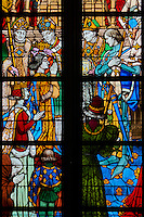 France, Region Centre-Val de Loire, Loiret (45), Orléans, les vitraux de la cathédrale Sainte-Croix, les vitraux de Jeanne d'Arc // France, Loiret, Orleans, Sainte-Croix cathedral, Jeanne d'Arc stained glass window