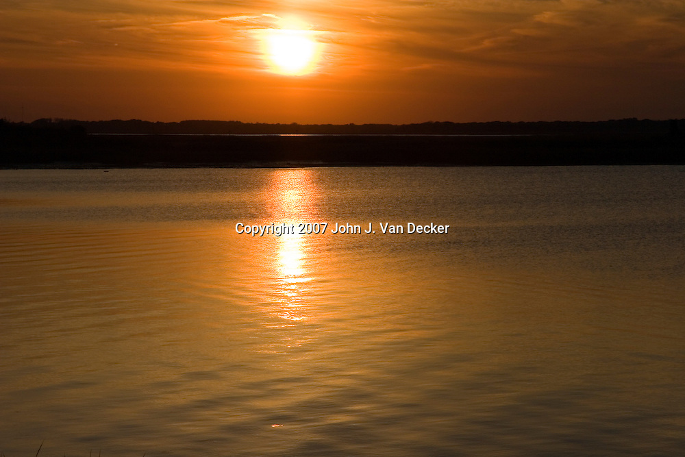 Sunset at Sunset Lake, Wildwood Crest, NJ, USA