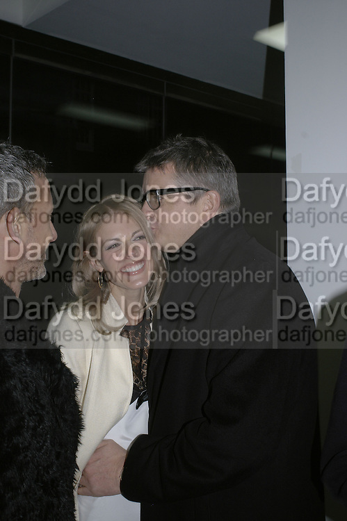 Donna Air and Jay Jopling,, Aperiatur Terra, Private View of work by  Anselm Kiefer<br />White Cube, Mason's Yard. - Afterwards dinner at the  NCP Brewer Street (Top<br />Floor)  London, 25 January 2007. -DO NOT ARCHIVE-© Copyright Photograph by Dafydd Jones. 248 Clapham Rd. London SW9 0PZ. Tel 0207 820 0771. www.dafjones.com.