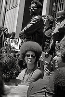 Kathleen Cleaver at Free Huey Newton rally at Federal Building in San Francisco Federal building California on Mayday 1969